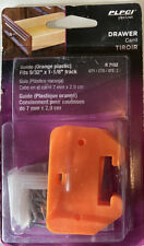 "Prime Line Drawer Guides Orange 9/32""x1-1/8"" Track R 7152 Qty 2 Brand New Sealed"