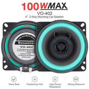 100W Car HiFi Coaxial Speaker Vehicle Door Auto Audio Music Stereo Loudspeaker