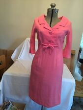 True Vintage Dress Pink 1950s 50s Himelhochs Detroit Department Store Size 5