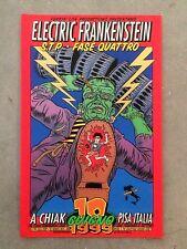 Chuck Sperry ELECTRIC FRANKENSTEIN STP Italian superb tour poster Silkscreen