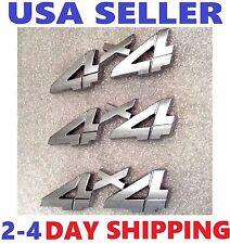 💰 3X Chrome 4X4 EMBLEM 4 X 4 CHEVROLET Car TRUCK logo DECAL badge SIGN .tr