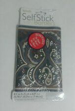 Sunworthy Self Stick Boarders Removable 8.5 Sq. Ft. (5 yd. x 6.87 in.) Paisley