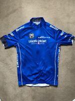 Santini Giro d'Italia La Gazzetta Dello Sport Men's Blue Cycling Jersey Size XXL
