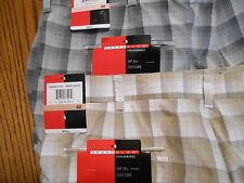 Grand Slam Performance Polyester Plaid Dress Golf Shorts Sr$60 New