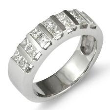 1.20 CT Princess Cut Diamond Wedding Anniversary Band Ring 14k White Gold F VS1