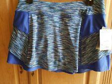 ATHLETA Blue Spacedye Bustle Skort, NWT, M