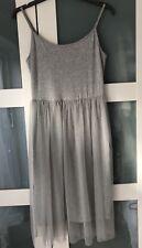 Topshop Size 10 Lovely/fun Layered Dress Grey