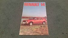 December 1976 / 1977 Model RENAULT 14 - UK BROCHURE