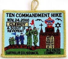 Suffolk Co Cncl (NY) 2000 Ten Commandments Hike CLERGY Pocket Patch  BSA  Error