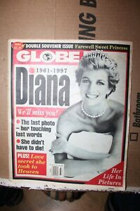 Sept 16 1997 Globe Magazine Princess Diana 1961-1997 Her Life in Pictures Rare
