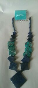 Mine Fines by JAY KING. Lapis & Turquoise Sterling Silver Necklace