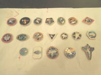 NASA Space Shuttle Lapel Pin Lot of 19 diff. Columbia- pins crew members names