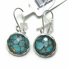 New IPPOLITA Silver Wonderland Lollipop Round Bronze Turquoise Drop Earrings