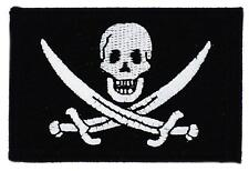Patch écusson brodé Drapeau PIRATE JACK RACKHAM TETE DE MORT  Thermocollant