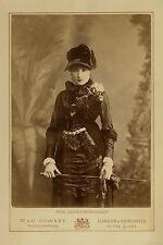SARAH BERNHARDT Actress Legend Autograph Photo Cabinet Card Vintage RP