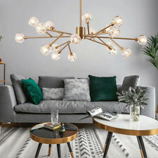 18-Light Crystal Shade Sputnik Chandeliers Modern Ceiling Lamps Pendant Fixtures