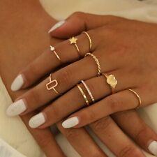 Bohemian Ring Set Women Silver Gold Finger Rings Punk Ring Gift