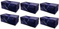 Storage Bags Extra Large Heavy Duty Reusable Moving Totes w/ Zipper (Pack of 6)