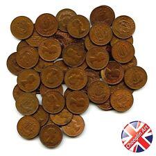 A set of (x50) 1966 British Bronze ELIZABETH II HALFPENNY Coins