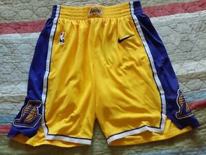Yellow Los Angeles Lakers NBA Shorts for sale | eBay
