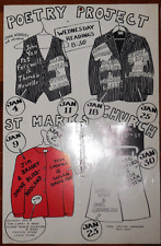 Poetry Project Poster Richard Hell Michael Lally John Yau Jim Brodey Tom Carey