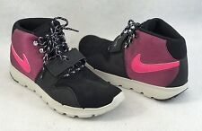 Nike Rongbuk 2 Mid Black Pink Sample Rare Sneakers Shoes Mens Sz 9 | EUC - 1093