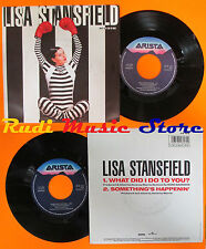 LP 45 7'' LISA STANSFIELD What did i do to you? 1990 italy ARISTA (*) cd mc dvd