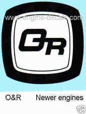 OR Orline Ohlsson & Rice decal vintage mini bike O&R