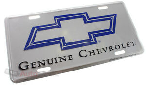 NEW!!! GENUINE CHEVROLET LICENSE PLATE ALUMINUM STAMPED METAL AUTO/CAR/TRUCK TAG