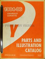1986 Corvette Maestro Partes Libro Originales OEM Chevrolet Illustrated Catalog
