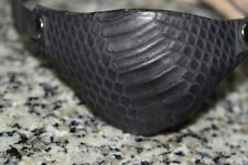 Leather eye patch dragon scale - adjustable with buckle - good for permanent use