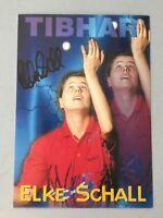 ELKE SCHALL deutsche Tischtennisspielerin signed ältere Autogrammkarte 10 x 15