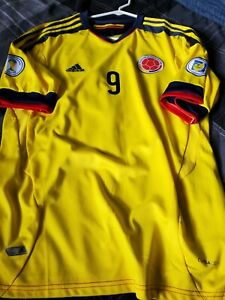 Adidas Colombia Soccer Jersey Adult Large Yellow Mens Futbol Climacool