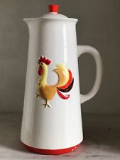 Vintage 1960's Holt Howard Coq Rouge Rooster Coffee Pot with Lid