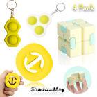 4 Pack Popit Bubble Fidget Toys Set Stress Relief Autism Simple Dimple Gift Game