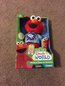 Playskool Sesame Street Musical Plush - Elmo and Smartie NIB/Sealed