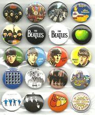 BEATLES logos & albums BUNCH X 20 BUTTON BADGES official merchandise JOHN LENNON