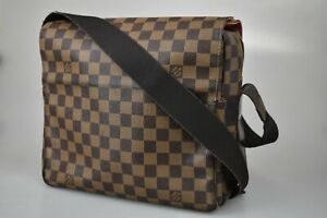 Auth LOUIS VUITTON Naviglio Shoulder Bag Damier Ebenu Brown N45255 80JC035