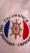 LE FRANCE SAC DE PLACE +SERVIETTE DE BAIN EPONGE BLANCHE NEUF