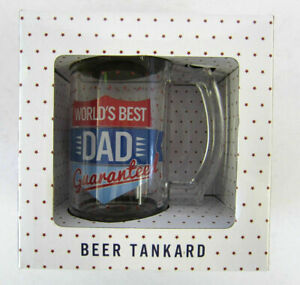 Leonardo Collection WORLDS BEST DAD Glass Tankard Gift for Fathers : LP33356