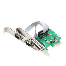 2 Serial 1 Parallel Port PCIe Controller Card Full Low Profile Brackets WCH382