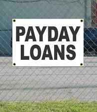 2x3 PAYDAY LOANS Black & White Banner Sign NEW Discount Size & Price FREE SHIP