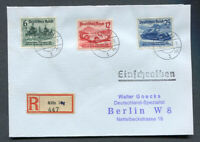 German Reich WW II : VALUABLE R-cover from 1939 - Cologne to Berlin