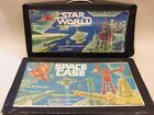 2 VINTAGE TARA TOYS Corp. ACTION FIGURE CARRY CASES....SPACE CASE...STAR WORLD