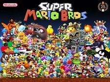 "Super Mario - Bros Game Baby Cute  Fabric Poster 17"" x 13"" Decor 75"