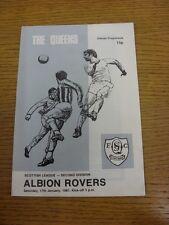 17/01/1981 LA REGINA DEL SUD V Albion Rovers. grazie per la visualizzazione di questo oggetto, B