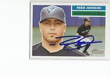 REED JOHNSON Autographed Signed 2005 Topps Heritage card Toronto Blue Jays COA