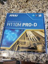 MSI H110M PRO-D LGA 1151 Intel H110 SATA 6Gb/s USB 3.1 Micro ATX Intel...