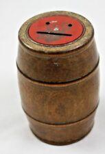 Vintage Wooden Barrel Coin Bank Still Keg Beer Whiskey Wine Piggy Bank Emoji :)