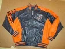 Mens STEVE & BARRY's SYRACUSE ORANGE All Star faux leather jacket XL NWT